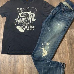 Denim & supply Ralph Lauren set jeans & T-shirt M